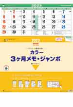 カラー3ヶ月メモ・ジャンボ-上から順タイプ- / TD-620