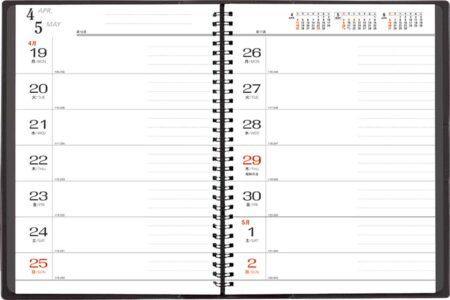 ダイヤモンドスター・ダイアリー B5・2週間(白)